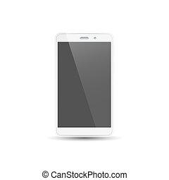 Smart phone, white mobile phone