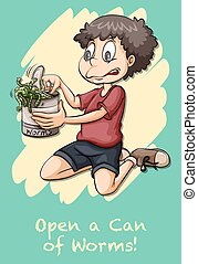 Idiom open can of worms