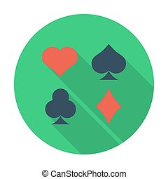 Card suit. Flat icon for mobile and web applications. Vector...