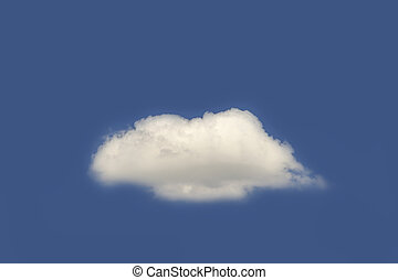White cloud on the blue sky