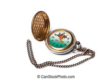 骨董品, ポケット, 腕時計\