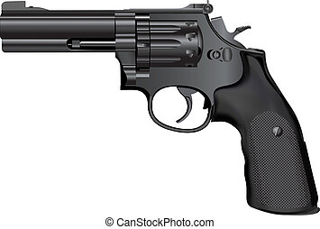 Gun - Detailed vector illustration of weapon isolated on...