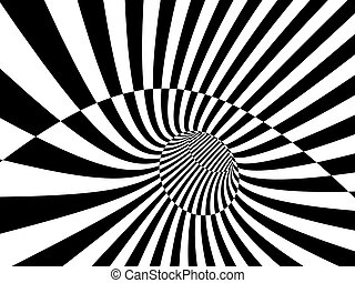 Abstract illusion Black and white