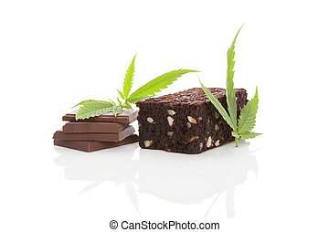 Cannabis chocolate and brownie. - Cannabis chocolate and...