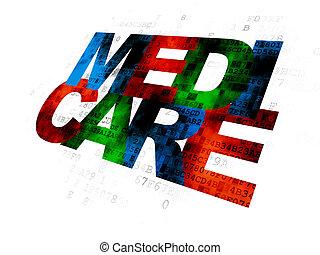 Health concept: Medicare on Digital background
