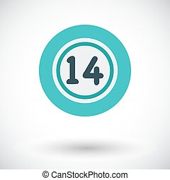 Lottery ball Flat vector icon for mobile and web...
