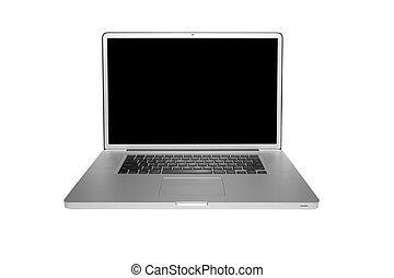 Modern computer laptop isolated on white with clipping path
