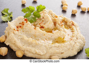 Delicious hummus. - Fresh delicious hummus and fresh...