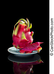 Red dragon fruit - Delicious ripe red dragon fruit isolated...