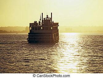 Ferry Boat in San Diego Bay, California