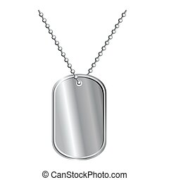 Army badge on chain. Soldiers death Medallion. Pure metal...
