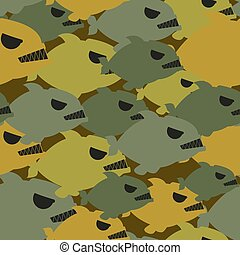 Army military camouflage from Piranha. Protective texture...