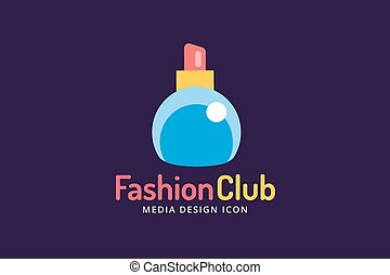 Perfume bottle sign icon logo glamour perfume symbol...
