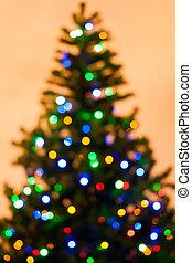 Colorful Christmas tree light bokeh