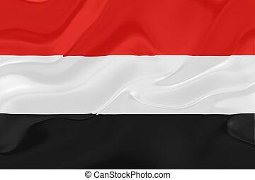 Flag of Yemen wavy