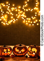 Halloween pumpkins jack-o-lantern - Halloween background