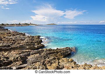 Island in sea Isola delle femmine, Sicily - The beautiful...