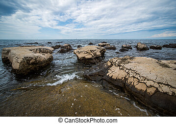 cloud day on the Adriatic coast - the cloud day on the...