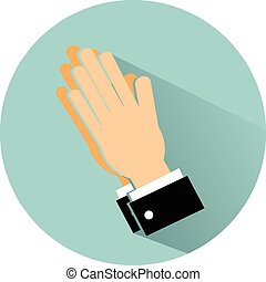 hope hand flat design icon vector eps 10