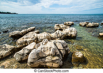 sunny day on the Adriatic coast - the sunny day on the...