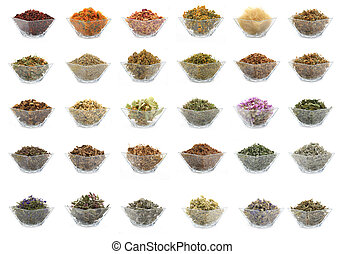 medicinal herbs - collage from the medicinal herbs using in...