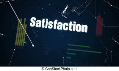 Text animation Service - Consumers, Satisfaction, Help,...