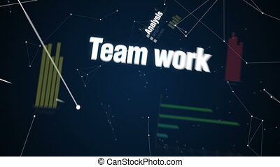Text animation 'Business plan' - Analysis, Teamwork,...