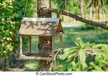 Bird Houses in the garden.