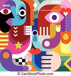 Abstract Art Picture - Abstract art vector background....