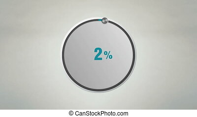 Indicate 70 percents circle dial animation