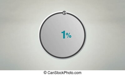 Indicate 10 percents circle dial - Indicate 30 percents...