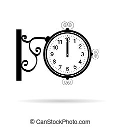 clock in retro street style vector illustration