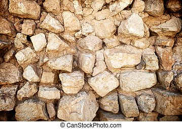 Stone wall - Background created with stone wall of a rural...