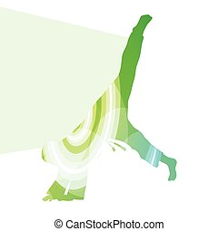 Judo abstract man silhouette illustration background...