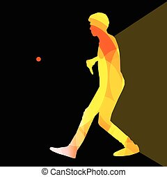 Table tennis player man silhouette illustration background...