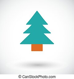 Conifer. Flat vector icon for mobile and web applications....