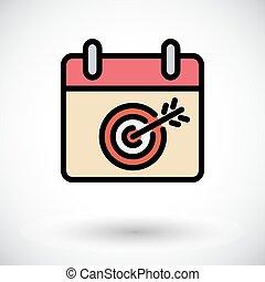 Calendar with goal