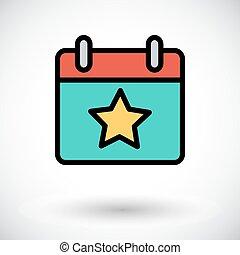 Calendar with star