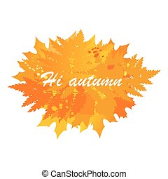 Autumn banner with the image of leaves