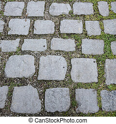 Cobbled Path - a path paved with stone cobbles