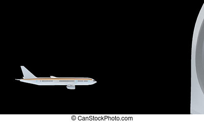 Medical tourism - Render illustration of commercial airliner...