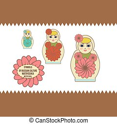 nested doll - Russian wooden matryoshka nested doll,...