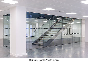 Stairwell - Stairs in contemporary office building
