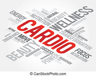 Cardio - CARDIO word cloud, fitness, sport, health concept