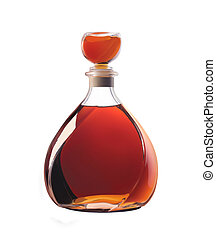 Whiskey bottle - Bottle of whiskey isolated on a white...