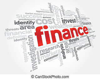 Finance - FINANCE word cloud, business concept