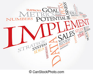 Implement word cloud, business concept