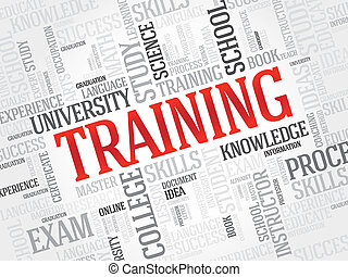 Training - TRAINING word cloud, business concept