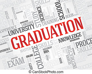 Graduation - GRADUATION word cloud, education concept