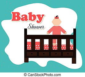 Baby shower and happy, childhood, - Baby shower and happy...
